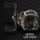 Double Brake Low-Profile Reel Baitcasting Fishing Reel Ocean Baitcast Drag Fishing Baitcaster Reel XLSDLLB200 left hand
