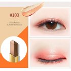 Double Colors Eyeshadow Pencil Waterproof Long-lasting Smooth Eye Shadow Stick 03# dark orange / sunny orange