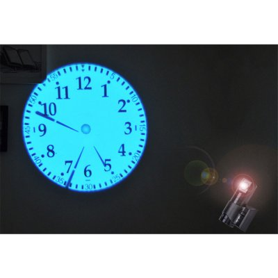 Double Dial Plate Projection Wall Clock with LCD Display Home Office Decoration Gift  with remote control US regulations