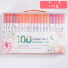 Double Head Watercolor Pen Highlighter Set for Line Drawing Painting