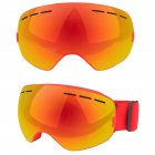 Double Layer Anti-fog Goggles Windproof Glasses for Skiing Snowboarding Cycling red