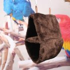 Double Layer Plush Nest Parrot Bird Hammock with Hanging Hook for Pet coffee_25*15*33