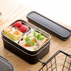 Double Layer Stainless Steel Water Heating Lunch Box Food Container black_Double layer