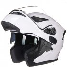 Double Lens Motorcycle Helmet White L