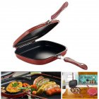 Double Side Grill Fry Pan Cookware Double Face Pan Steak Fry Pan Kitchen Accessories Cooking Tool 28CM/32CM 28CM