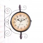 Double-Side Wall Mount Clock with Mute Movement Home Office Hotel Decoration Gift  31*9*38cm