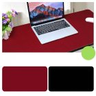 Double Sided Desk Mousepad Extended Waterproof Microfiber Gaming Keyboard Mouse Pad for Office Home School Black + red_Size: 90x40