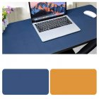 Double Sided Desk Mousepad Extended Waterproof Microfiber Gaming Keyboard Mouse Pad for Office Home School Sapphire + yellow_Size: 30x25