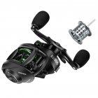 Double line Cup Fishing Reel Right  Left Hand Wheel Long distance Throwing Dripping Wheel GS black and green models  left hand wheel  two wire cups