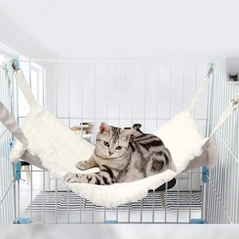 Double-sided Cat Suede Hammock Bunny Sleeping Nest Bed with Hanging Hook Pet Supply L (58 * 48CM)