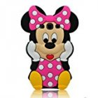 DragonPad  3d Cute Lovely Disney Mounse Minnie Mickey Soft Silicon Gel Rubber Case Cover Skin for Iphone Ipod Samsung  samsung galaxy s3 9300 Hot Pink