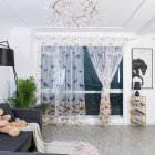 Dragonfly Pattern Tulle Curtain Light Transmission Drapes for Home Living Room Decoration As shown_1 * 2.7 meters high