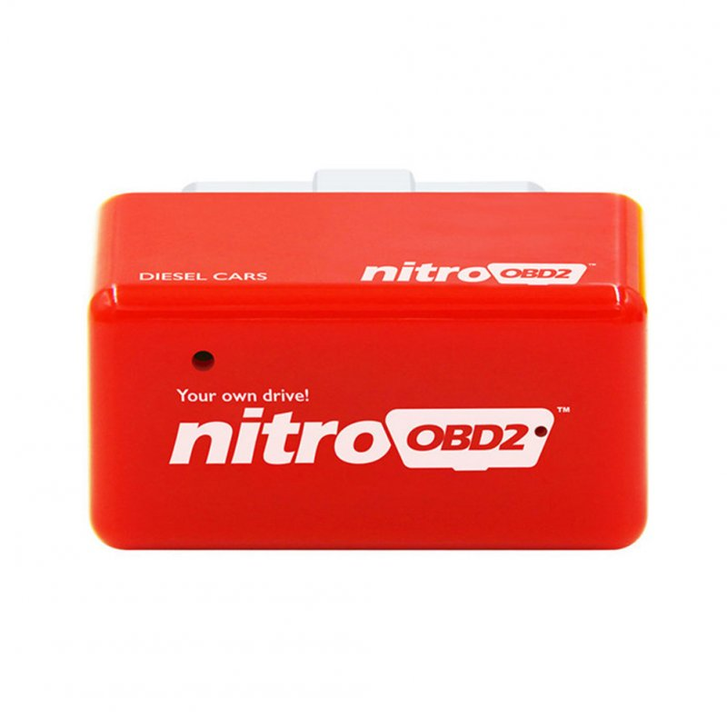 Drive NitroOBD2 Car Power Booster Fuel Saver ECU Chip Tuning Box red