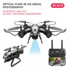 Drone Ky909 Hd 4k Wifi Video Live Fpv Drone Light Flow Keep Height Quad-axis Aircraft One-button Take-off Drone with Box black_4K (color box)