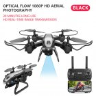 Drone Ky909 Hd 4k Wifi Video Live Fpv Drone Light Flow Keep Height Quad-axis Aircraft One-button Take-off Drone with Box black_1080P (color box)