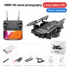 Drone LS11 4K Optional Dual Camera RC Quadcopter Transmitter USB Charging Cable Protection Cover Spare Blades Set Dual camera 500W