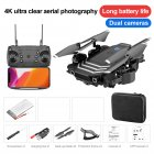 Drone LS11 4K Optional Dual Camera RC Quadcopter Transmitter USB Charging Cable Protection Cover Spare Blades Set Storage box 4K
