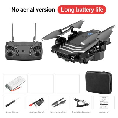 Drone LS11 4K Optional Dual Camera RC Quadcopter Transmitter USB Charging Cable Protection Cover Spare Blades Set Storage box without camera