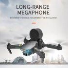 Drone Speaker Megaphone for Drone camera Aerial Broadcasting with A Loudspeaker Control Distance black