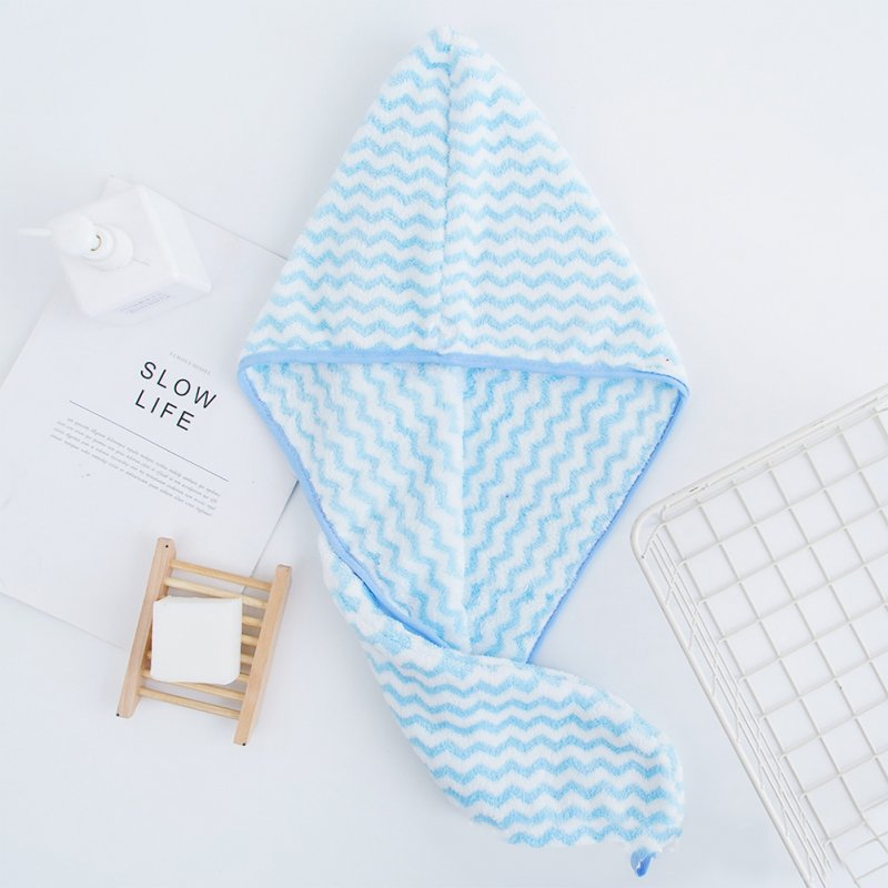 Dry Hair Towel Strong Absorbency Rapid Drying Hair Towel for Home Hotel Travel  blue_25 * 64cm