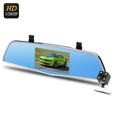 Dual Camera Rear Mirror Dash Cam