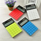 Dual Power Calculator of Large Buttons Portable Counting Machine School Office Supplies Red