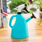 Dual Purpose Large Size Hand Press Spraying Kettle for Home Gardening blue