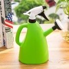 Dual Purpose Large Size Hand Press Spraying Kettle for Home Gardening green