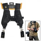 Dual Shoulder Camera Neck Strap Belt Quick Release for Digital SLR DSLR Camera  black