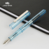 Dull Polish Jinhao Fountain Pens Fine Nib Screw Cap Practice Writing Pen Anti slip Transparent Black 0 38mm