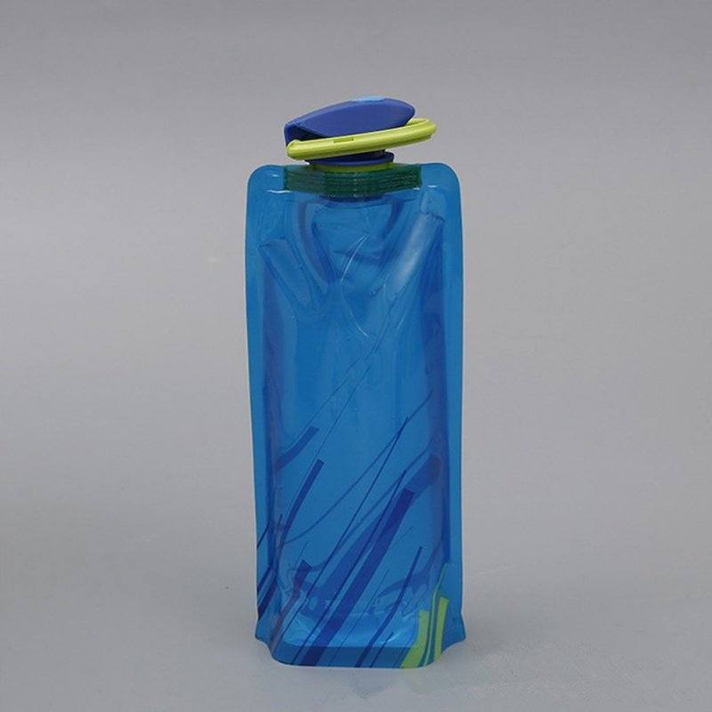 Durable BPA-Free Polymer Foldable Water Bags Portable Kettle Outdoor Sports Supplies blue