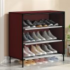 Dustproof Assemble Shoes Rack Simple Modern Shoe Cabinet for Home Storage Wine red