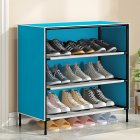 Dustproof Assemble Shoes Rack Simple Modern Shoe Cabinet for Home Storage blue
