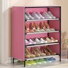 Dustproof Shoes Rack Stable Storage Shelf for Home 59*28*64.5cm Pink
