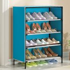 Dustproof Shoes Rack Stable Storage Shelf for Home 59*28*64.5cm blue