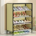 Dustproof Shoes Rack Stable Storage Shelf for Home 59*28*64.5cm creamy-white