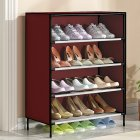 Dustproof Shoes Rack Stable Storage Shelf for Home 59*28*64.5cm wine red