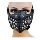 Dysfunctional Doll Black Spike Motorcycle Face Mask Protective Paint Ball Gear