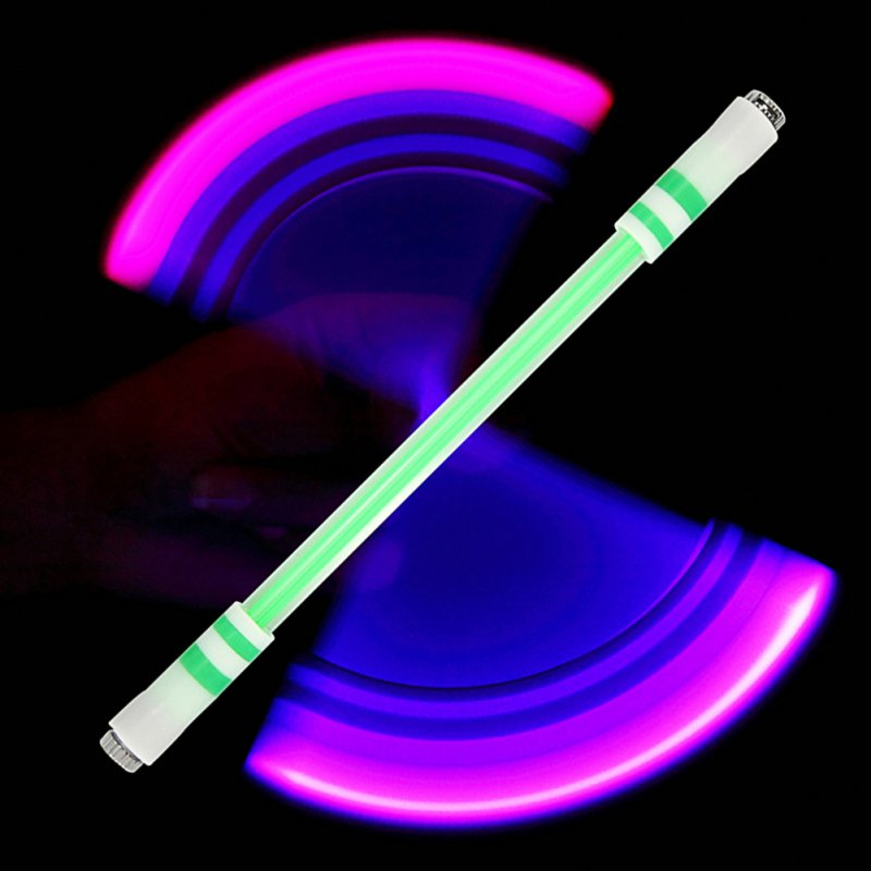 E15  Illuminated Spinning Pen Rolling Pen Special Pen without Refill for Kids E15 (B green send E11 )