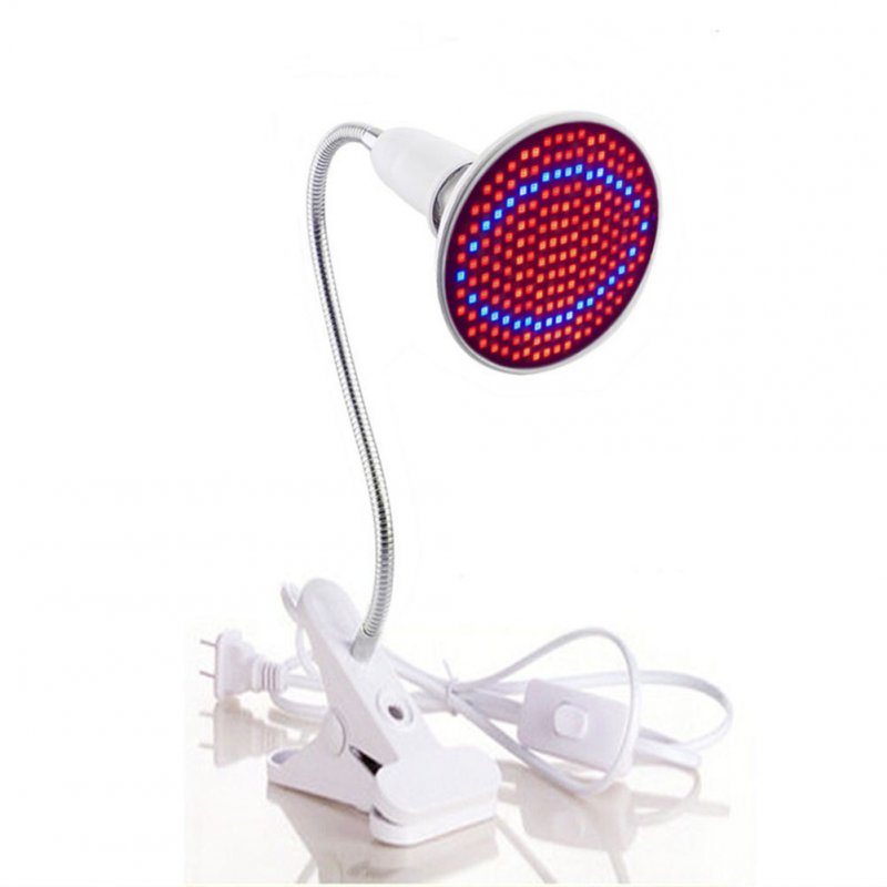 E27 20W 200 LED 2835SDM Plant Grow Light with Clip Red & Blue Light for Indoor Hydroponic Plant Vegetable Cultivation Horticulture Industrial Seedling  U.S. regulations