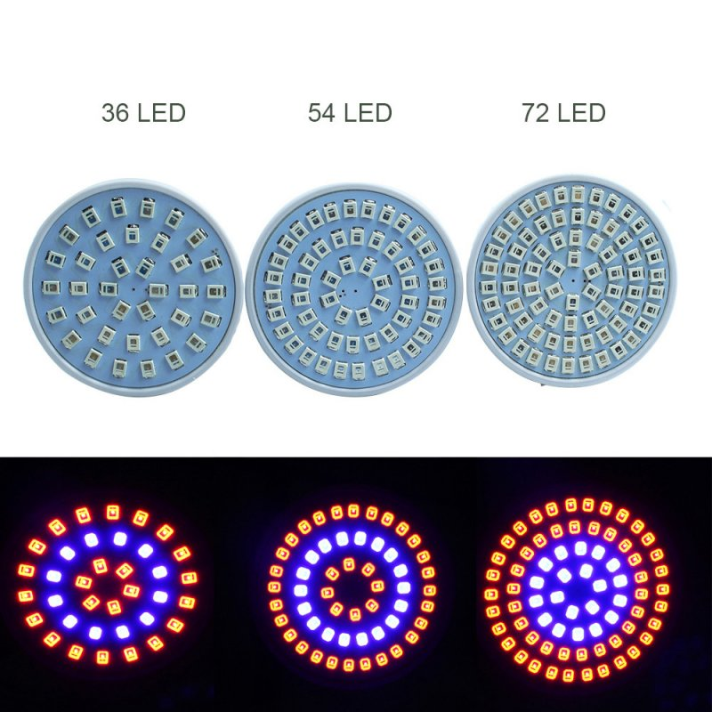 E27 220V LED Plant Grow Light Hydroponic Growth Light for Indoor Vegetable Seedling Flowerpot
