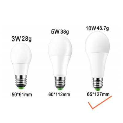 E27 85-265V IR Remote Controlled Dimming LED Bulb RGB Color Changing Light Lamp Bulb RGB