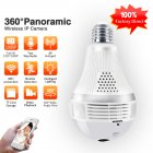 E27 Bulb WIFI Camera Wireless Home Monitor 360 Degree Panorama High Definition Remote Control Camera 3MP-300 million pixels