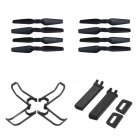 E58 RC Quadcopter Propeller Blades Landing Protection Cover Set black