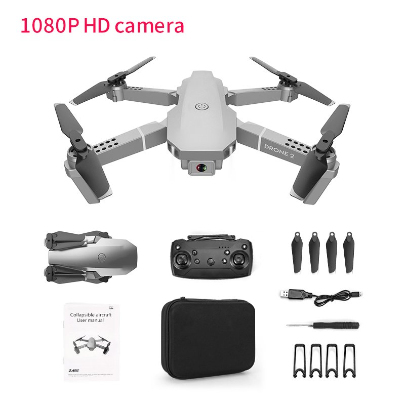 E68 Remote Control Upgraded Drone Wide Angle 4K 720P 1080P HD Camera Quadcopter Foldable WiFi FPV Four-axis Drone Altitude Hold 1080P camera