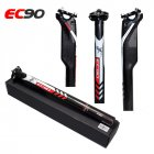 EC90 All Carbon Fiber Road Mountain Bike Seat Tube Bicycle Seat Post black_31.6-350mm