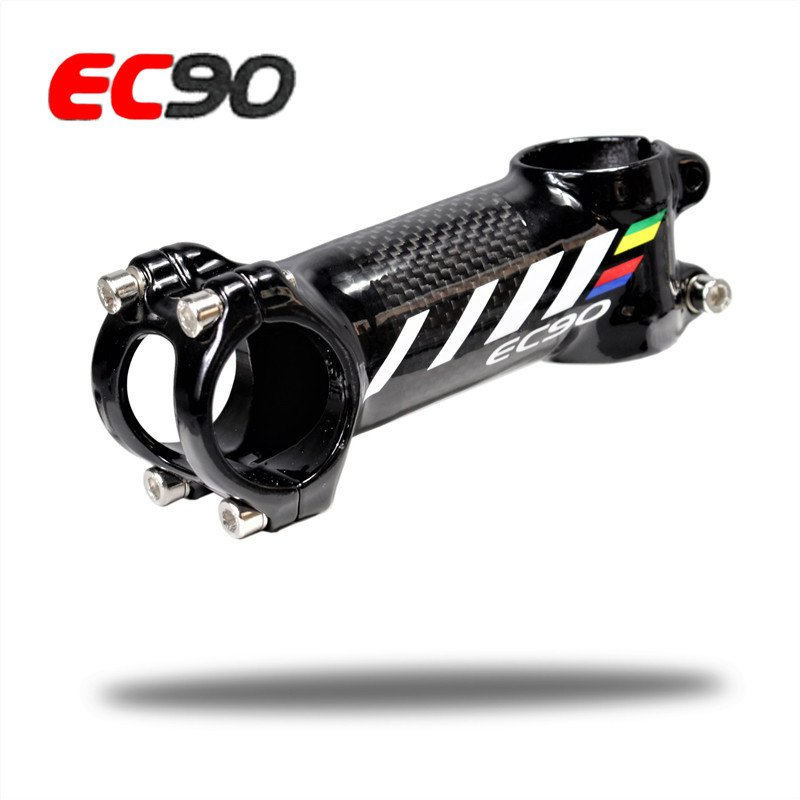 EC90 Aluminum Alloy + Carbon Fiber Riser Rod Stem Scale-free Carbon Fiber Bicycle Super-light Stem Carbon Handle 100MM
