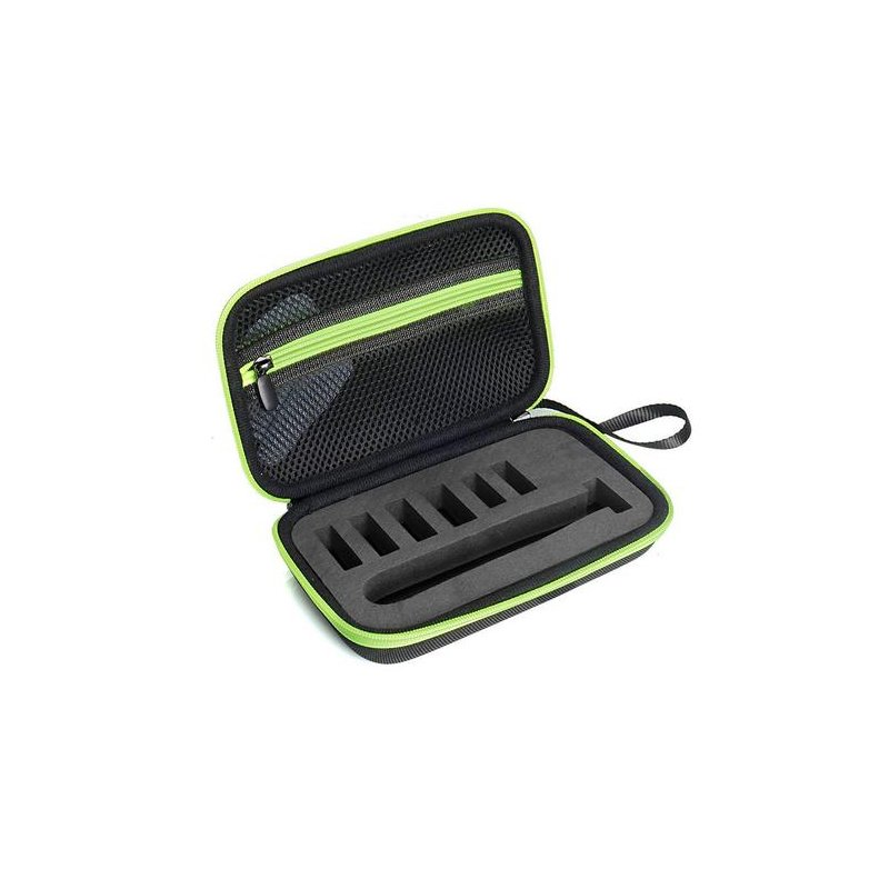 EVA Case for Philips Norelco OneBlade Electric Trimmer and Shaver QP2520/90 QP2520/70 Hard Shell Organizer Storage Bag green