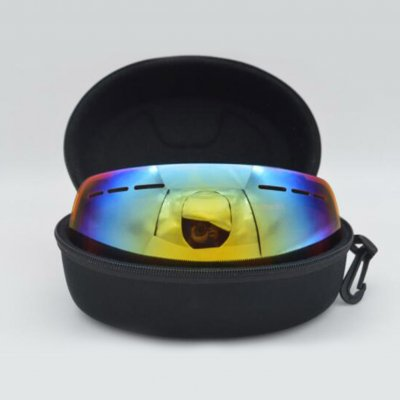 EVA Snow Ski Goggle Case Sunglasses Carrying Box Zipper Hard Glasses Holder black_210*110*85mm