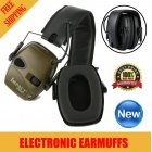 Earmuff Outdoor Noise Reduction Electronic Headphones Without Battery black